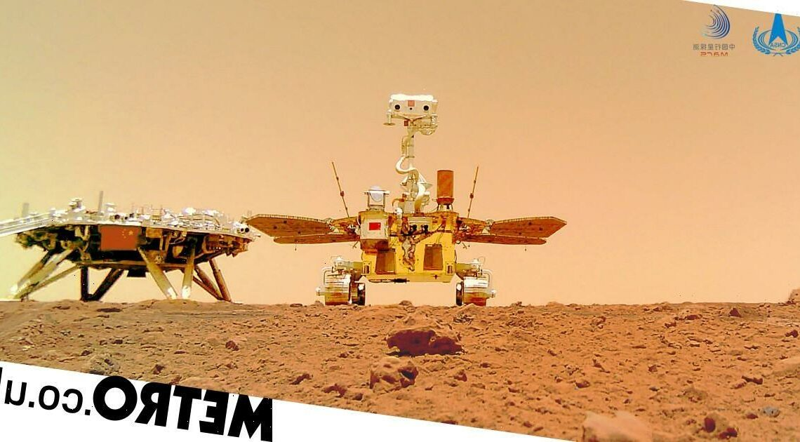 China publishes first images of its rover on Mars