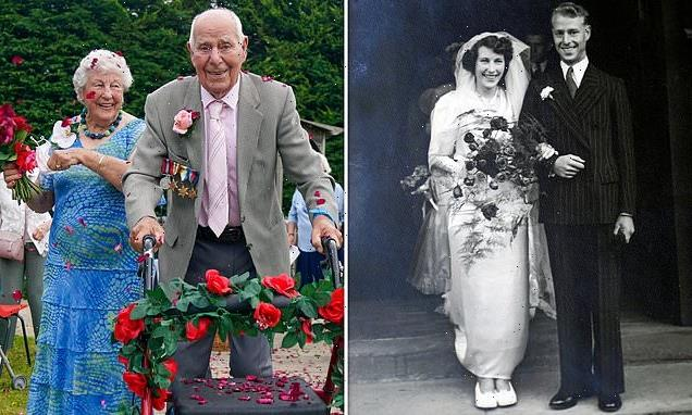 Couple celebrate 71st wedding anniversary by renewing their vows