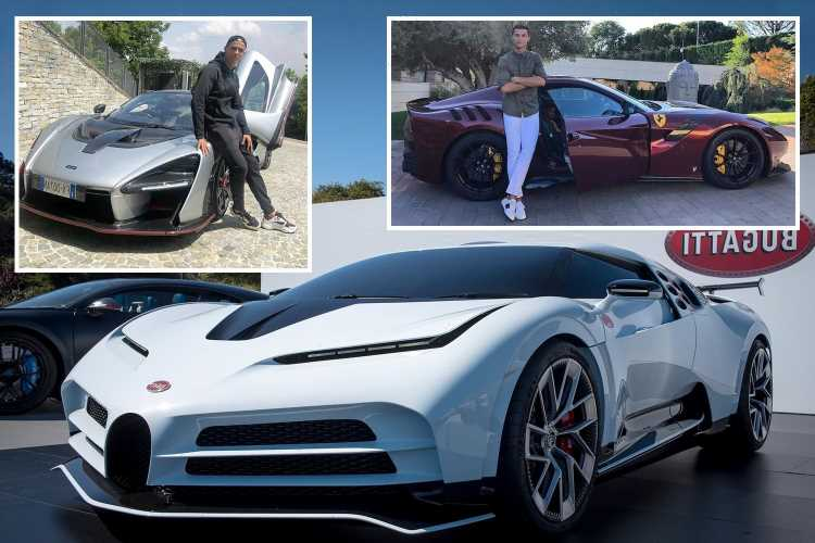 Cristiano Ronaldo's amazing car collection worth £17m after splashing out on limited edition Ferrari Monza worth £1.4m – The Sun