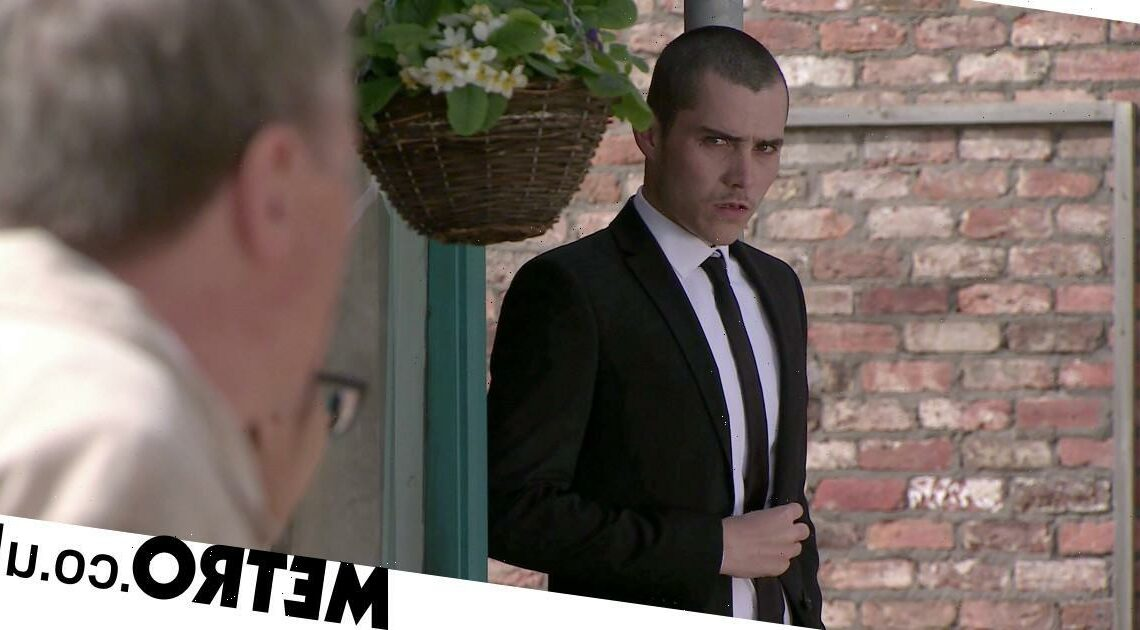 Does Corey die in Coronation Street or does he get caught?