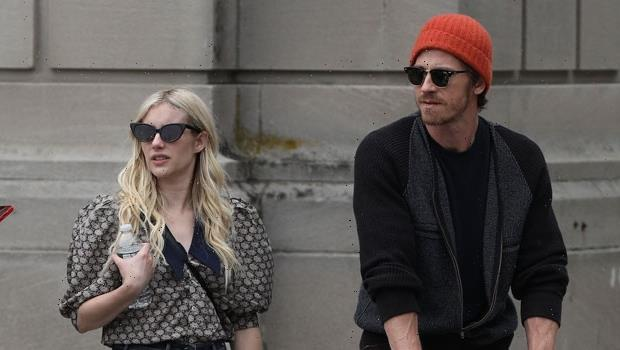 Emma Roberts & Partner Garrett Hedlund Share Kiss On Rare Outing With Son Rhodes, 6 Mos.