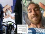 Euro 2020: Upbeat Christian Eriksen posts thumbs-up selfie in hospital