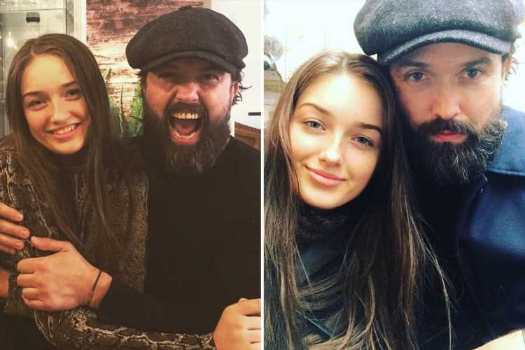 Ex Hollyoaks star Emmett Scanlan shares rare selfie with daughter Kayla, 19, as he wishes her good luck in exams