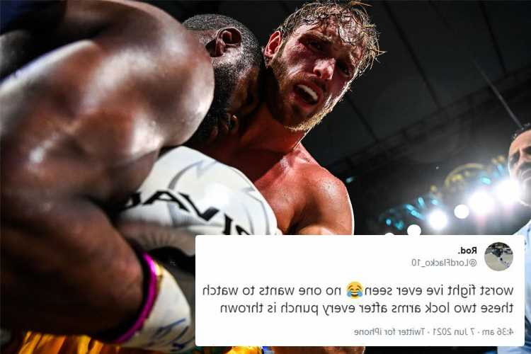 Fans blast Floyd Mayweather vs Logan Paul as 'worst fight of all time' and 'battle of the cuddles'
