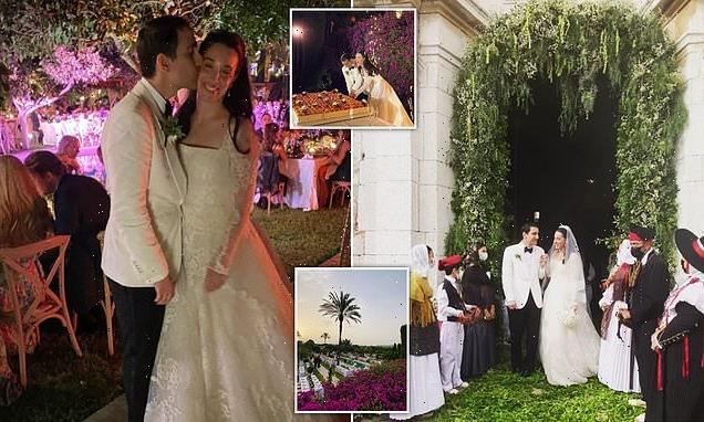 Fendi heiress married handsome beau in black tie wedding in Ibiza