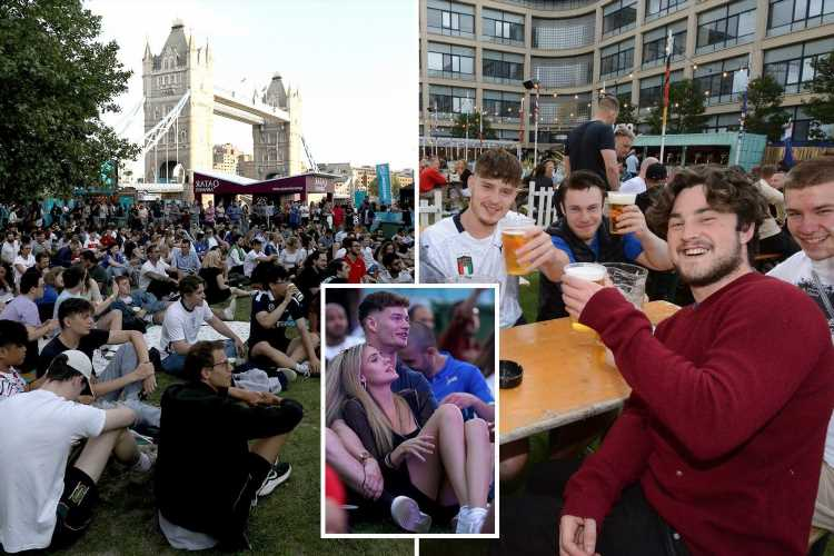 Footy-mad Brits pack pubs and fan parks to watch Italy take on Turkey to kick off long-awaited Euro 2020