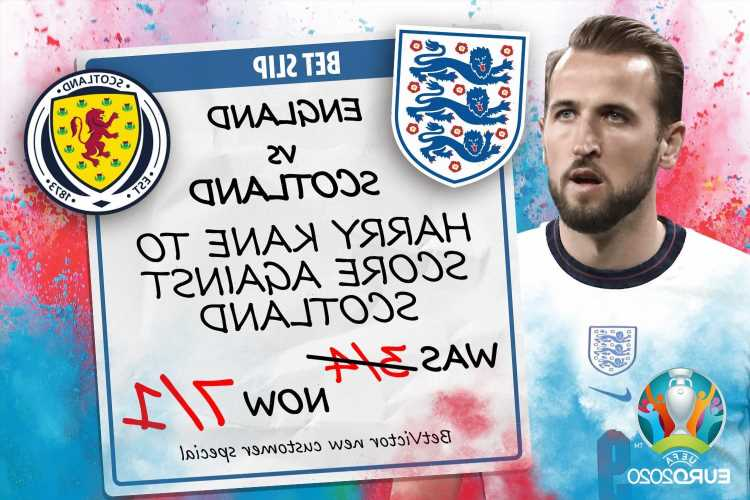 Get Harry Kane at BOOSTED 7/1 to score during England vs Scotland Euro 2020 clash