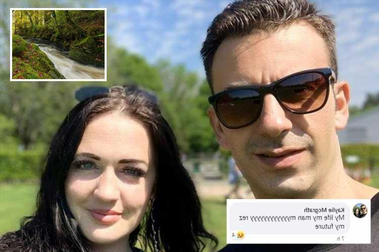 Girlfriend's heartbreaking tribute to 'my life, my man, my future' who died jumping into river to save stepdaughter