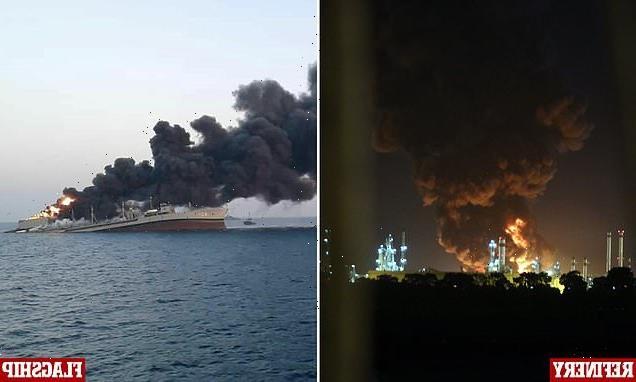 Huge blaze breaks out at key oil refinery south of Tehran
