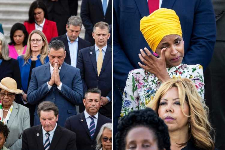 Ilhan Omar cries as Congress mourns the 600,000 Americans who have died from Covid – including her dad