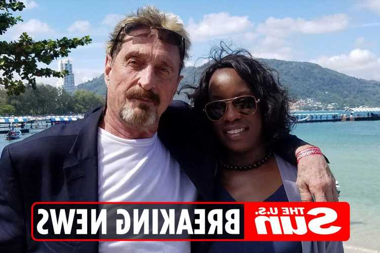 John McAfee's wife warned 'authorities wanted guru dead' in chilling Father's Day message – three days before 'suicide'