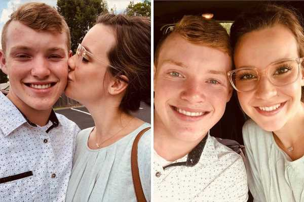 Justin Duggar, 18, and his wife Claire, 20, kiss in new pics after fans suspect she is pregnant with their first child