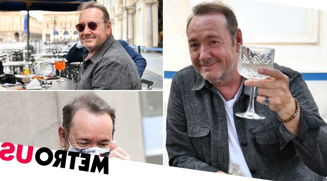 Kevin Spacey smiles as he returns to work on new movie after misconduct claims
