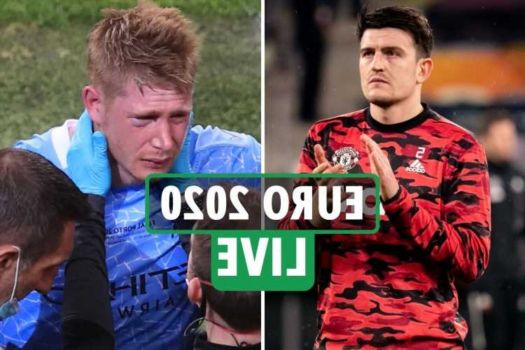 Kevin de Bruyne huge injury doubt for Euro 2020 after breaking TWO bones, Maguire set to be fit for England squad