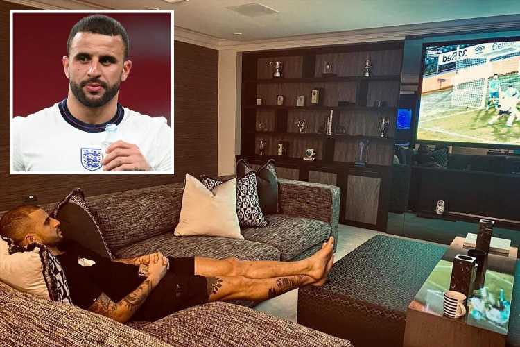 Kyle Walker has highest estimated energy bill in England squad thanks to £3m mansion, pool, fish tank and waterfall