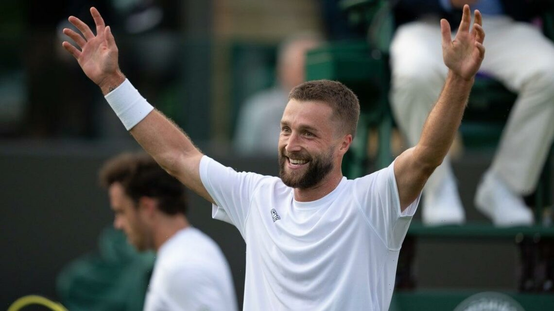 Liam Broady 'grateful' to win at Wimbledon again after almost quitting tennis