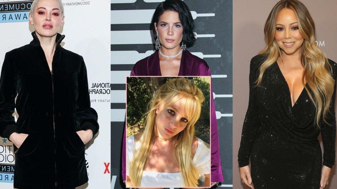 Mariah Carey, Halsey, Rose McGowan & More React To Britney Spears Conservatorship Hearing!
