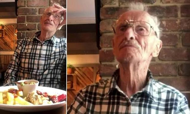 Moment widower, 90, finds out his food has been paid for by strangers