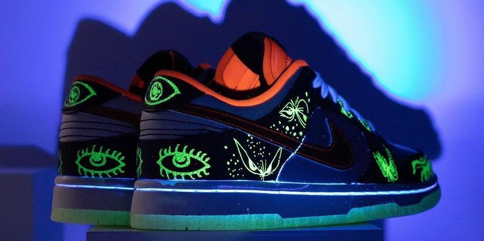 """Nike Dunk Low """"Halloween"""" Offers Ghoulishly Good Glowing Details"""