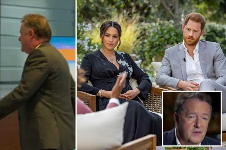 Piers Morgan BLAMES Meghan Markle for him leaving Good Morning Britain 36 hours after she complained to ITV
