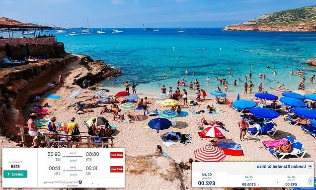 Price of flights to Ibiza soars by 60 per cent in MINUTES of new list