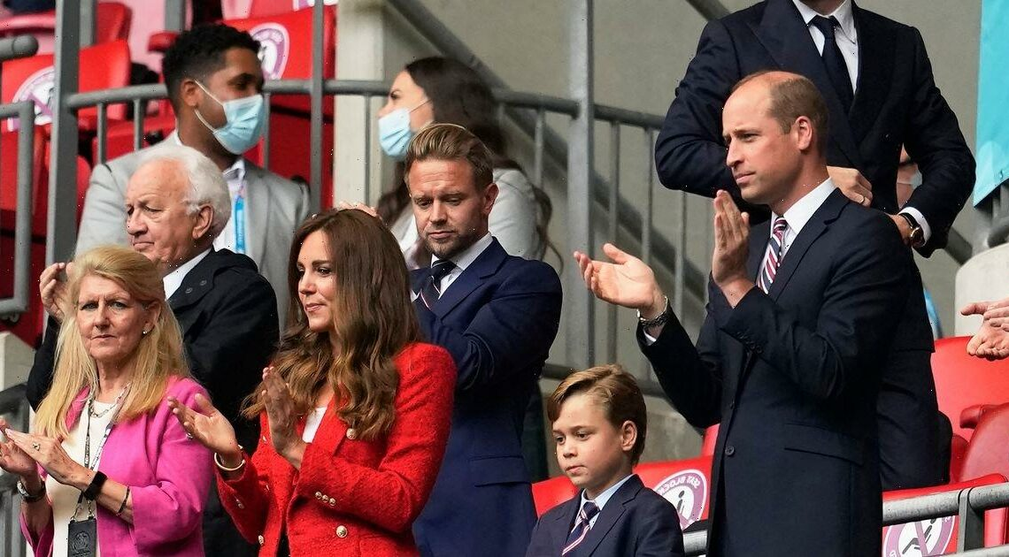 Prince William and Kate sent 'deliberate signal' to Harry at England football match