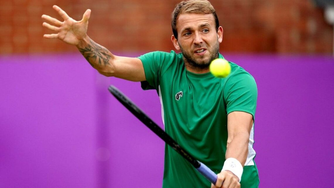 Queen's Club: British No 1 Dan Evans goes out at quarter-final stage