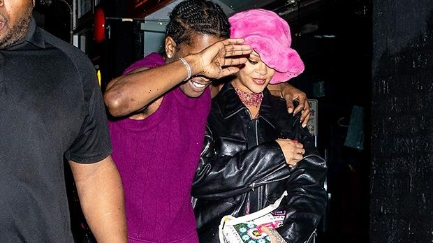 Rihanna Kisses A$AP Rocky As She Rocks Plunging Pink Dress For Rare Public Date Night — Photo