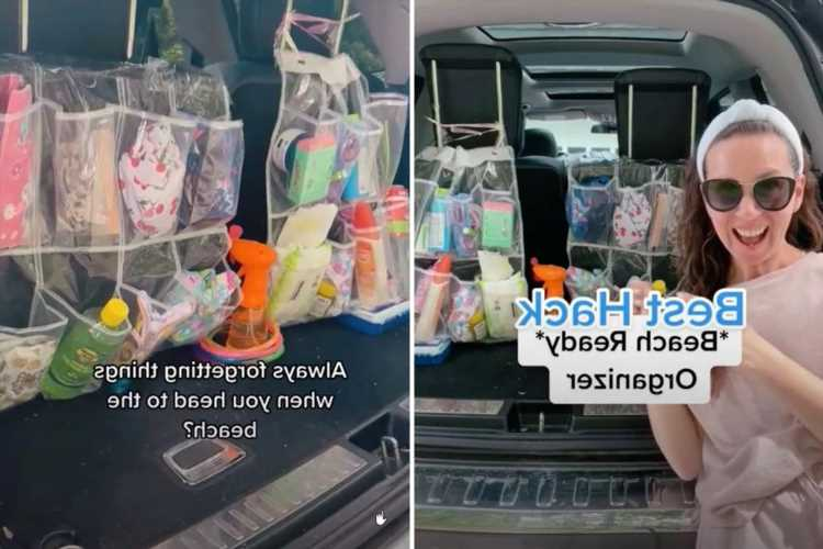 Savvy mum shares clever boot hack for keeping cars organised on family days out to the beach