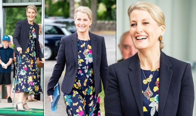 'Sophie is class personified': Countess of Wessex wows in navy ensemble in Scotland
