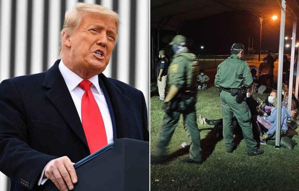Trump en route to US-Mexico border amid record migrant surges