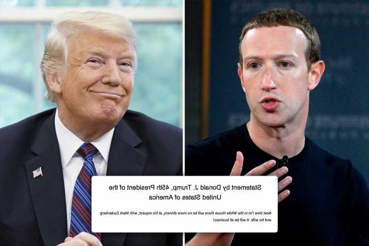 Trump teases 2024 run after slamming Facebook ban as he claims Mark Zuckerberg 'BEGGED to have dinner with him'