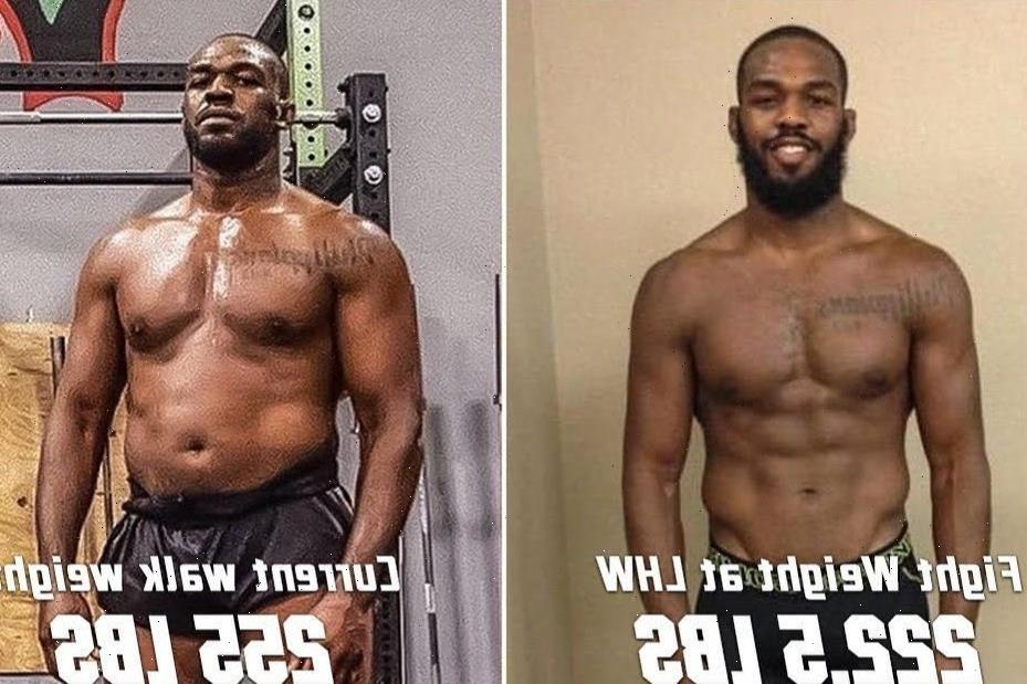UFC ace Jon Jones shows off incredible body transformation as he packs on 30lbs for heavyweight debut