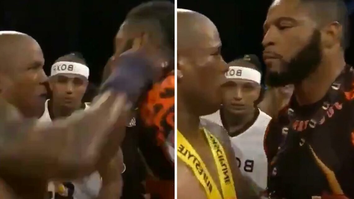 Watch ex-UFC star Hector Lombard PUNCH rival Lorenzo Hunt in the face during interview after bare-knuckle bout