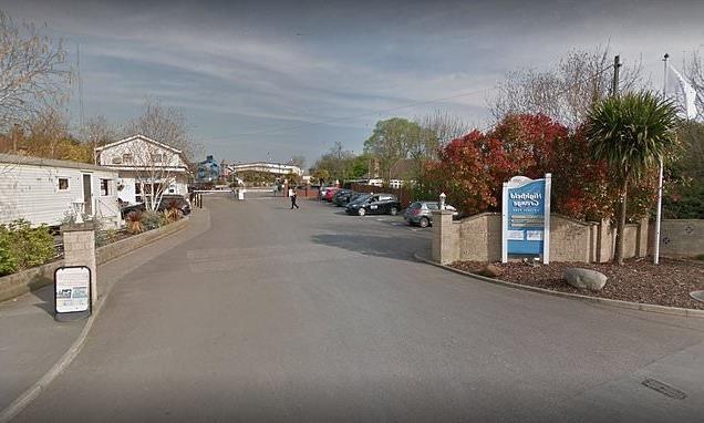Woman in her 50s dies as caravan is engulfed in flames at resort