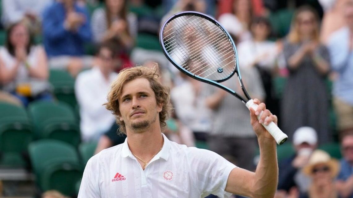 Alexander Zverev claims comeback victory to reach fourth round at Wimbledon
