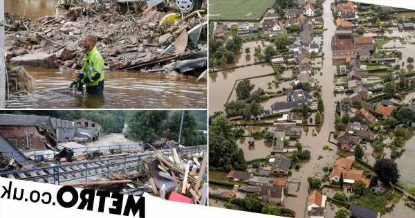 At least 180 dead in floods as rescuers search for victims in debris