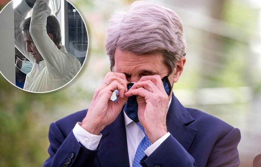 Climate czar John Kerry again caught without a mask at airport