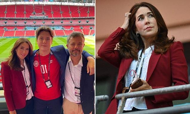 Crown Princess Mary of Denmark looks effortlessly stylish at Wembley