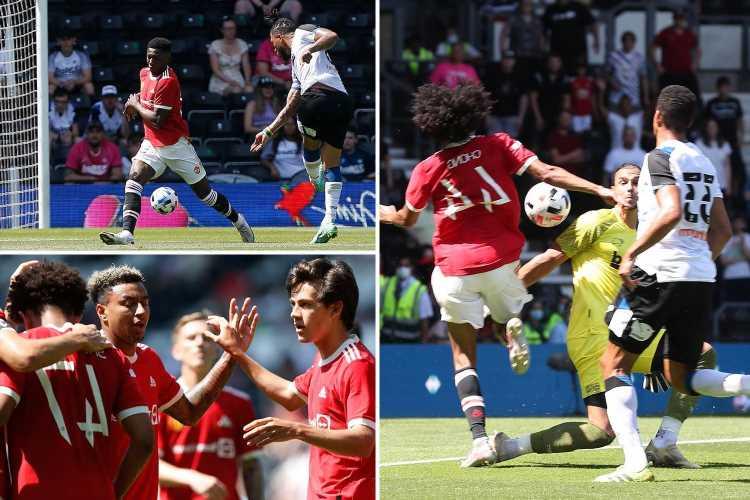 Derby 1 Man Utd 2: Chong and Pellistri score in pre-season win over Wayne Rooney's Rams while Lingard shines