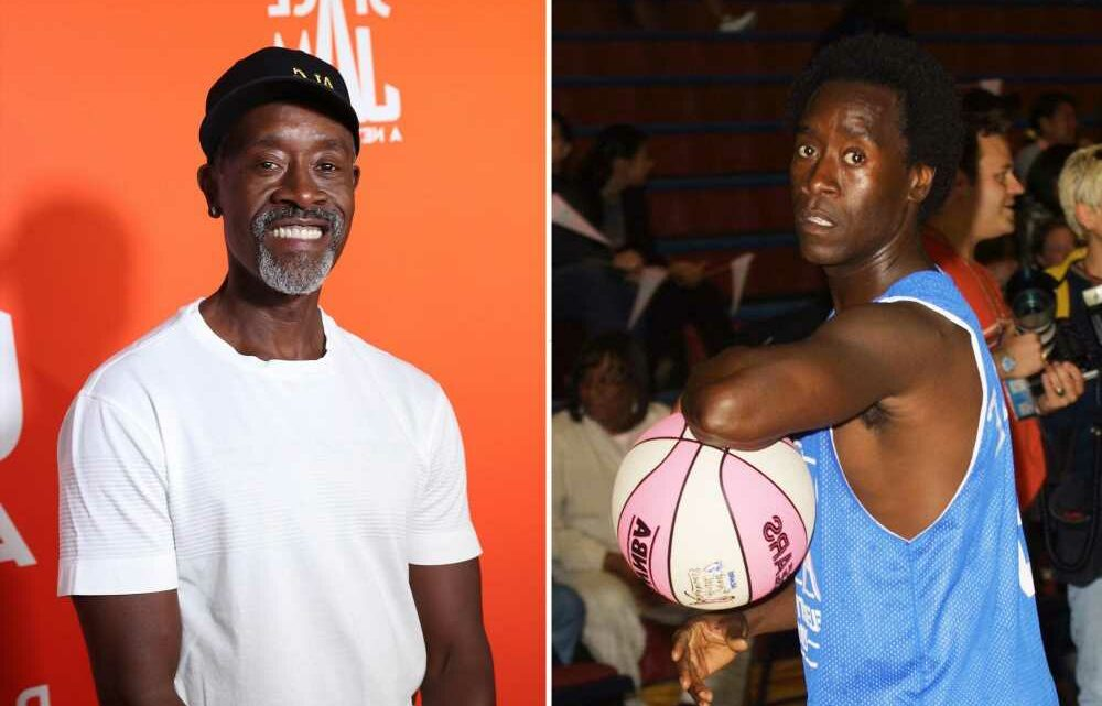 Don Cheadle recalls being great at basketball until his knee went out