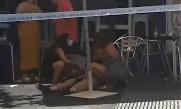 Driver mounts pavement and crashes into several people in Marbella