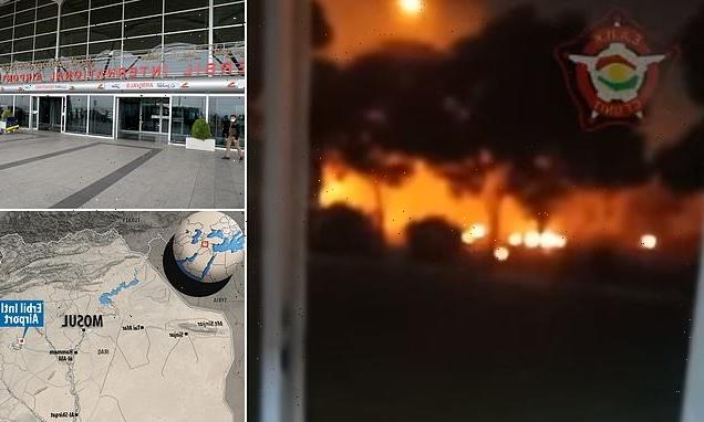 Erbil Airport in Iraq is hit in drone attack aimed at Us military base