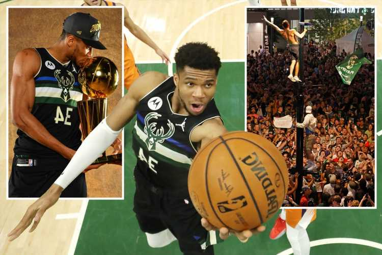 Giannis Antetokounmpo's amazing 50-point show leads Bucks to first NBA title in 50 years as 65,000 celebrate in fan park