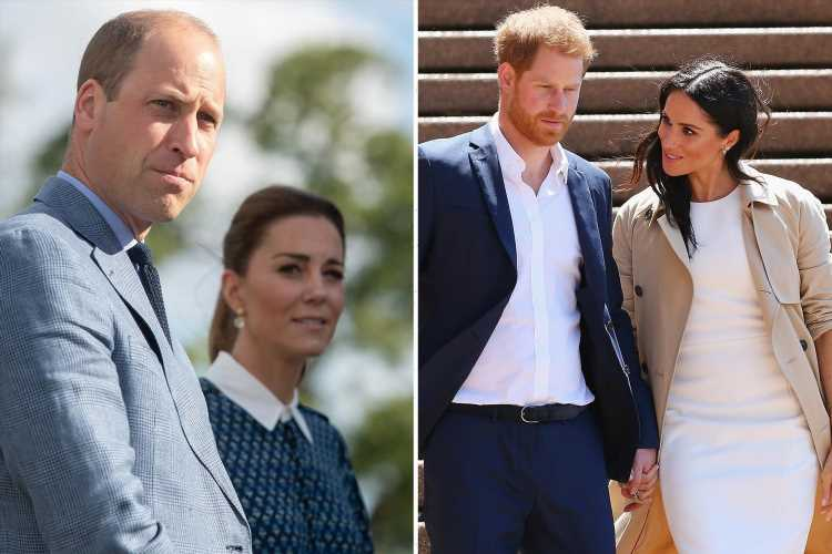 Harry WON'T make up with William despite Diana statue unveiling as he 'can't afford to upset Meghan', biographer claims