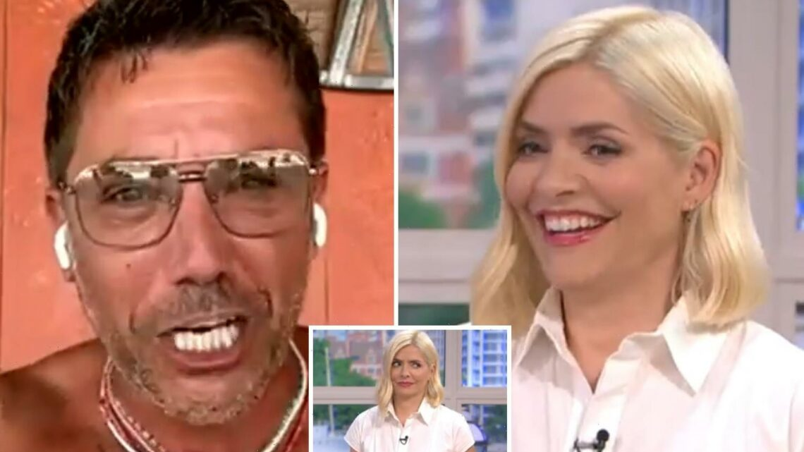 Holly Willoughby squirms as Gino D'Acampo places bet for her to present This Morning NAKED if England lose Euro 2020