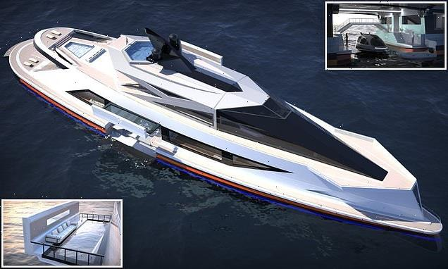 Incredible £220m megayacht includes internal dock for small boats