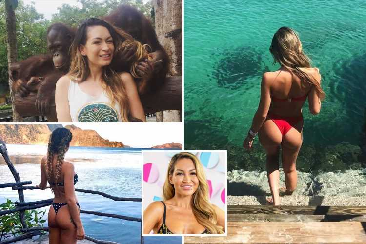 Inside Love Island bombshell AJ's incredible off-screen life with trips around the world and boozy nights out