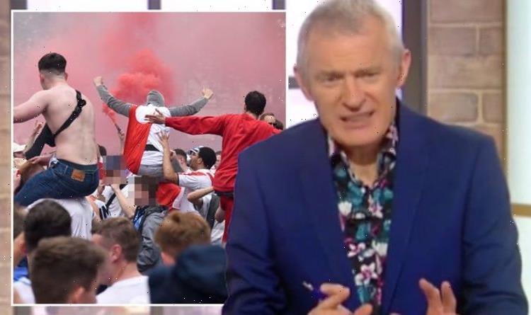 Jeremy Vine caller rages England fans need training camp: 'Teach them to b*****y behave'
