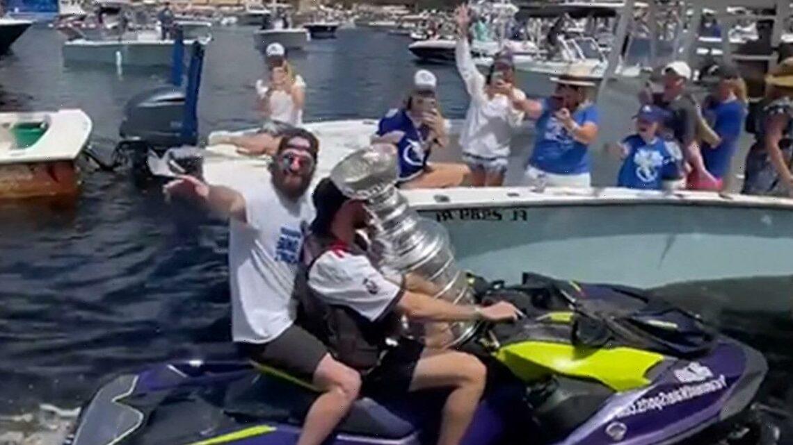 Lightning Stars Alex Killorn and Nikita Kucherov Take Stanley Cup On Jet Ski Ride!